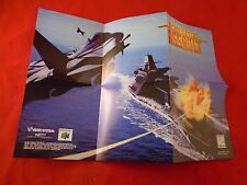 Aerofighters Assault Nintendo 64 N64 Foldable Promo Poster Insert ONLY