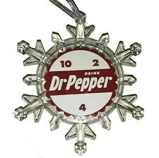 Dr. Pepper Snow 10 4 2 Snowflake Multi Light Holiday Christmas Tree Ornament