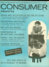 1958 Consumer Reports: Drugs & Deception/Innerspring Mattresses/Gas Ranges