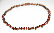 Natural Baltic amber baby necklace, cherry chips beads 33 cm/13 inch