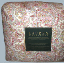 RALPH LAUREN Queen Bedding Set 4pcs PRETTY PAISLEY pink red blue
