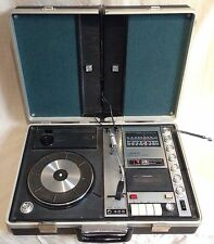 Sanyo G-2605n Suitcase Record Player - Portable Briefcase Stereo Tape/Radio/Deck