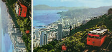 OLD POSTCARD - HONG KONG - Bird's Eye view to the Financial and Business centre