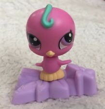 McDonald's Littlest Pet Shop Bobble Pink Bird on Branch