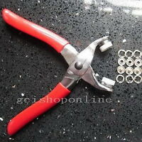 """Press Snap Fastener Plier stud Easy attaching 22 set Open ring 3/8"""" Tool GBPPPP"""