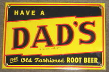*DAD'S ROOT BEER PORCELAIN OVERLAY SIGN  NR