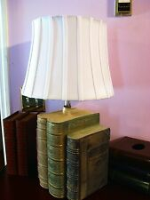 Antique Book Table Lamp. 26 inches tall. Charming books. Hancrafted.