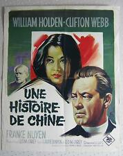 french movie poster China-Story / Une histoire de Chine 1962 W.Holden
