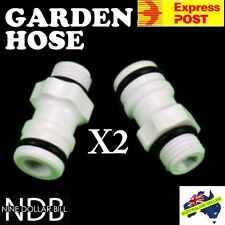 2x Garden Fitting Hose Quick Connector SnapOn Caravan Boat Water Filter EXPRESS