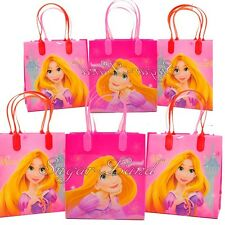 12 Disney Tangled Princess Rapunzel Party Favor Bags Goodie Loot Tote Candy
