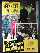 LOCANDINA CINEMA - SINFONIA DI GUERRA - C. HESTON, M. SCHELL - 1968 - GUERRA -03