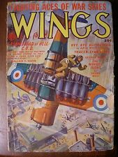 WINGS pulp fiction magazine FALL 1949