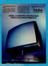 QUATTROR985-PUBBLICITA'/ADVERTISING-1985- SABA TV-VIDEO-HIFI