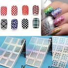 12 sheets Neu Mode Nail Art Maniküre Stencil Sticker Stamping Vinyls Easy Use