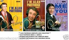 ALAN PARTRIDGE COMPLETE SERIES 1 & 2 KNOWING YOU KNOWING ME YULE DVD 6 DISC SET