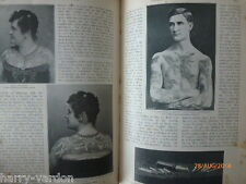 Tattoo's Victorian Old Antique Tattooing Tattoo 1897 Human Skin Pictures Article