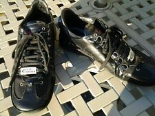 Dsquared mans black leather trainers size 10