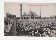 Last Friday Prayer Juma Masjid Delhi India Vintage Postcard 184a