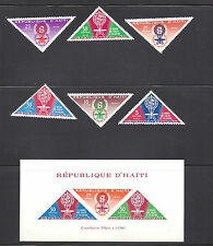 HAITI , UN , WORLD AGAINST MALARIA ,  SS IMPERF & SET OF 6 PERF , VLH