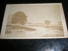 Cdv old photograph landscape sketch by Henry Gordon at Wishaw c1870s 507(10)