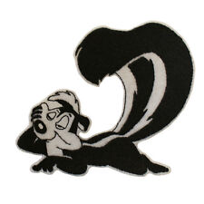 Embroidered PEPE LE PEW Retro Tv 80s Iron & Sew On Patch Patch On White Felt