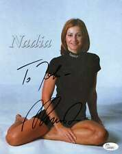 NADIA COMANECI SIGNED JSA 8X10 PHOTO AUTHENTICATED AUTOGRAPH
