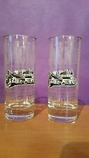 Jack Daniels Tennessee Whiskey Set of 2 Tall Highball Glasses Limited Edition!