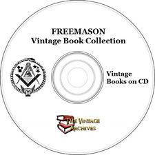 Freemason, Masonic, Freemasonry, Illuminati Rare Book Collection on CD