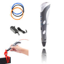 3D Printing Pen Printer Crafting Modeling Stereoscopic ABS/PLA Filament Arts US