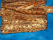 """5 yards 1/2"""" width hot coral  & gold braid trim for your fashion design"""