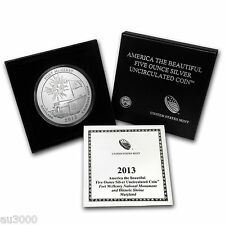 2013-P ATB FORT McHENRY 5 OZ. SILVER SPECIMEN COIN BOX & COA SOLD OUT at MINT !!