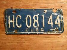 Old Photo. Cuba (Castro Time) Auto License Plate