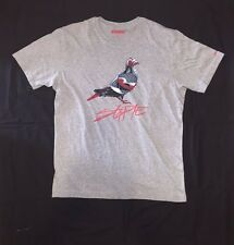 Staple Pigeon Brand Jordan 4 Inspired T Shirt Grey Tee Sz Large NEW NO TAG