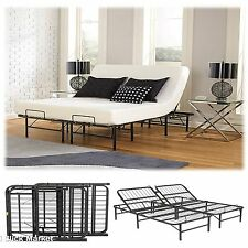 Cal King Size Head Adjustable Lift Bed Frame Easy Control Foundation Steel Base