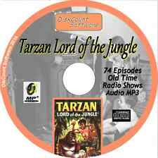 Tarzan Lord of the Jungle   - 74 Old Time Radio Shows - Audio MP3 CD