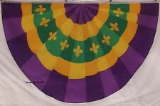 PURPLE & GOLD Fleur De Lis FLAG - LOUISIANA - NEW ORLEANS - MARDI GRAS  FOOTBALL