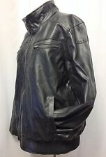 Vince Camuto - Heavy, Quality Faux Leather Motorcycle/Bomber Jacket - Men's XL