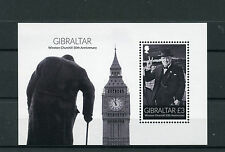 Gibraltar 2015 MNH Winston Churchill 50th Anniv 1v M/S Big Ben Stamps