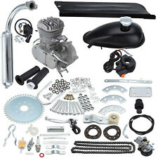 Silver 50cc 2 Stroke Cycle Motor Kit Motorized Bike Petrol Gas Bicycle Engine