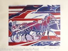 PRIX*D'AMERIQUE*ESTAMPE*OFFICIELLE*JOS*VERBEECK*CHEVAL*RARE*MUSEE*1997*COLLECTOR