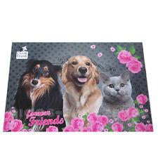 Cleo & Fran Hund Katze Schreibtischunterlage Tischauflage Schreibunterlage