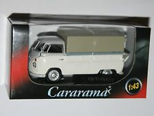 Cararama - VW Volkswagen T1 Covered Pick Up (White) Model Scale 1:43