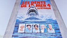 LES DENTS DE LA MER 4 la revanche  jaws !  affiche cinema