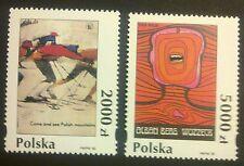 POLAND STAMPS MNH Fi3327-28 Sc3182-83 Mi3475-76 - Polish poster, 1993, clean