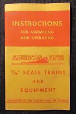1947 AMERICAN FLYER 3/16 Scale Instructions Booklet VG+ 4.5 A.C. Gilbert 48pgs