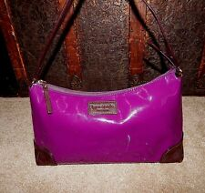 Kate Spade Purse Tote Handbag Bon Vivant Plum Patent Leather Authentic Bag