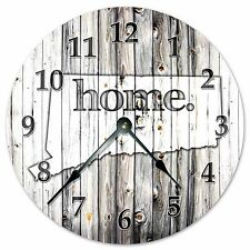 "CONNECTICUT RUSTIC HOME STATE CLOCK - Large 10.5"" Wall Clock - 2217"
