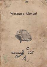 TROJAN 200 ( HEINKEL TYPE ) BUBBLECAR ORIGINAL 1960 FACTORY WORKSHOP MANUAL