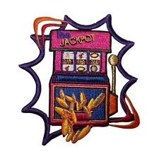 ID 8570 Slot Machine Jackpot Casino Gambling Embroidered Iron On Applique Patch