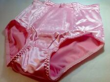 "Women Panties,Briefs,Control Panties""Ann Diane""Size S.Pink Satin W/2 Side Pocket"